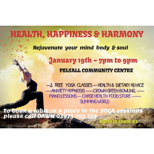 HEALTH, HAPPINESS  AND  HARMONY