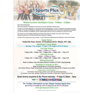 Hydesville Tower Multi-Sports Camp with Sports Plus Scheme