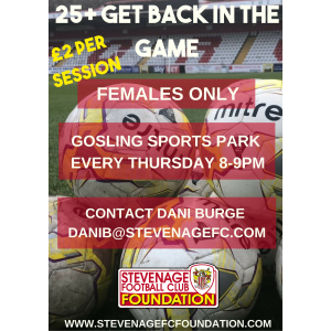 Womens 25+ Get Back In The Game Session