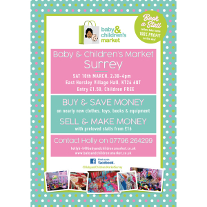 Baby & Children's Market in Horsley, Surrey - Sat 10th March