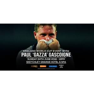 "Watch England vs. Panama with Paul ""Gazza"" Gascoigne."