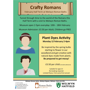 Crafty Romans at Welwyn Roman Baths - February Half Term