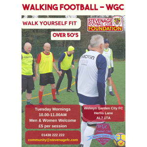 Walking Football at Welwyn Garden FC
