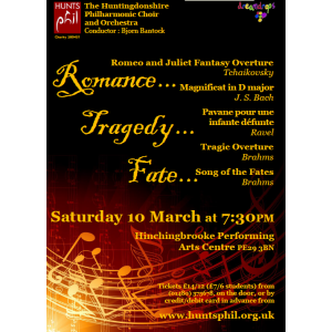 Huntingdonshire Philharmonic Choral and Orchestral Concert