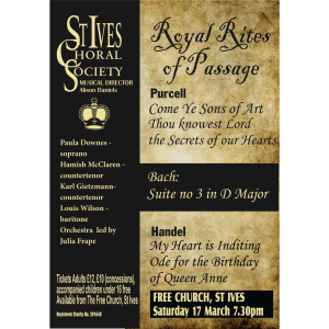 St Ives Choral Society Concert: Royal Rites of Passage