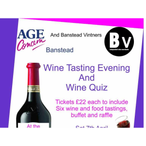 Wine Tasting & Buffet evening with Age Concern #Banstead @AgeConcernBanst