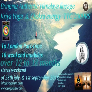 Kriya yoga and chakra energy TTC Part-Time London 10 weekends