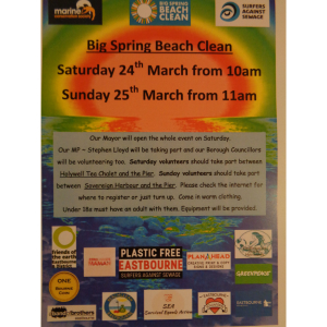 Eastbourne Big Spring Beach Clean