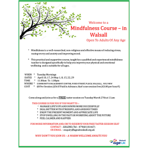 Mindfulness Programme in Walsall