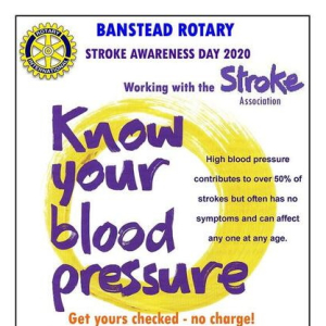 CANCELLED Know Your Blood Pressure! Free checks in #Banstead @thestrokeAssoc  @BansteadRotary