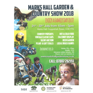 Marks Hall Country and Garden show 2018
