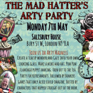The Mad Hatters Arty Party,Salisbury House,Enfield,London,children,craft