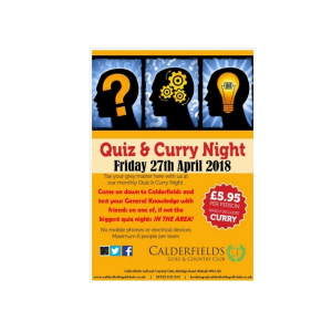 Quiz & Curry Nights @ Calderfields