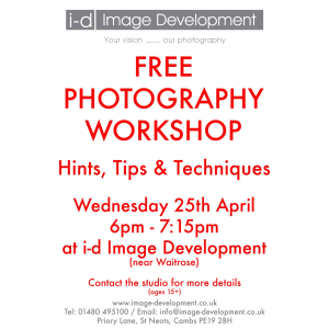 FREE Photography Workshop in St Neots