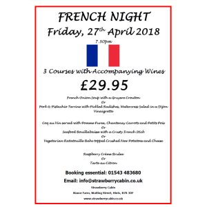 French Night at The Strawberry Cabin
