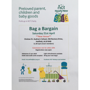 NCT Welwyn and Hatfield Nearly New Sale