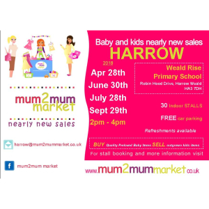 mum2mum market nearly new sale – Harrow – Sat 28th April 2018