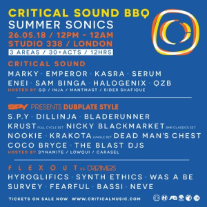 Critical Sound BBQ Summer Sonic at Studio 338 w/ Marky, Emperor, Kasra