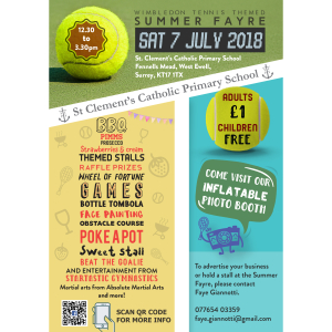 Summer Fayre - Wimbledon Tennis Themed