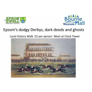 Epsom's Dodgy Derbys – History Walks with Bourne Hall Museum @EpsomEwellBC