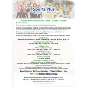 Rushall Whitsun Multisports Camp