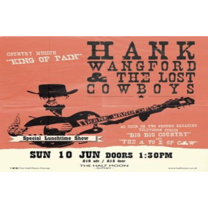 Hank Wangford and The Lost Cowboys (Lunchtime) Live at The Half Moon Putney