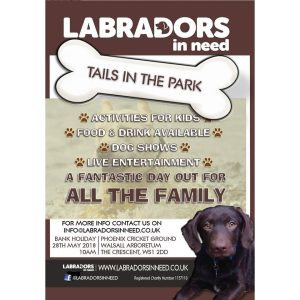 Labradors in Need's Tails in the Park @ Walsall Arboretum