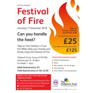 Festival of Fire - can you stand the heat? for @Childrens_trust