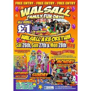 Bank Holiday Family Fun in Walsall Arboretum