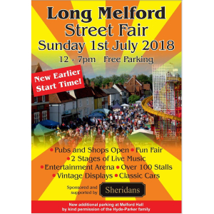 Long Melford Street Fair 2018