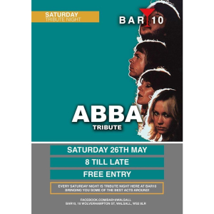 Abba Tribute at Bar 10 Walsall