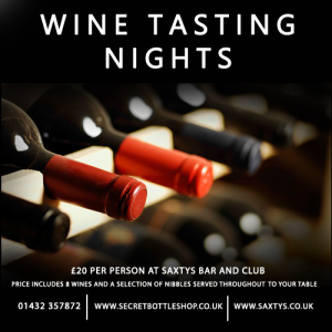 Wine Tasting Night at Saxtys