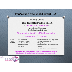 THE BIG CHOIR'S BIG SUMMER SING 2018 - 19th July 2018