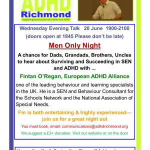 ADHD Richmond free  open Men Only Night