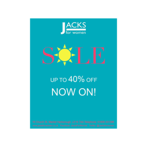 SALE NOW ON at Jacks For Women - up to 40% OFF!