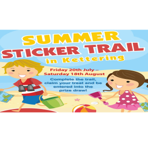 Summer Sticker Trail in Kettering.