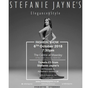 Stefanie Jayne's Annual Charity Fashion Show.