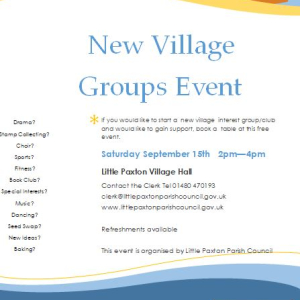 New Village Groups Event - Little Paxton