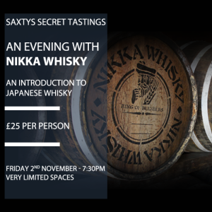 Saxtys Secret Tasting - Nikka Japanese Whisky