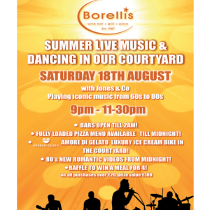 Live Music at Borellis with Jones and Co