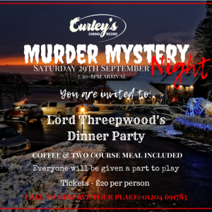 Murder Mystery Night at Curley's Dining Rooms