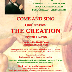 Come and Sing Haydn's Creation