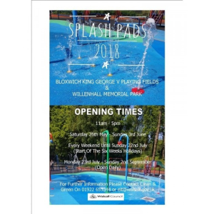 Free Splash Pads open for school holidays in Bloxwich & Willenhall