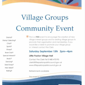 Village Groups Community Event - Little Paxton