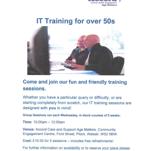 5 Week IT Sessions for Over 50's