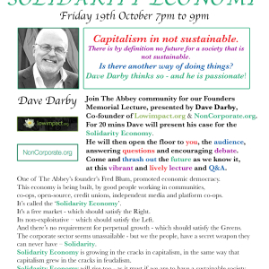 Founders Memorial Lecture – Solidarity Economy – Dave Darby