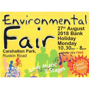 August Bank Holiday #Carshalton Environmental Fair @EnvFair @ECOLocalFMarket