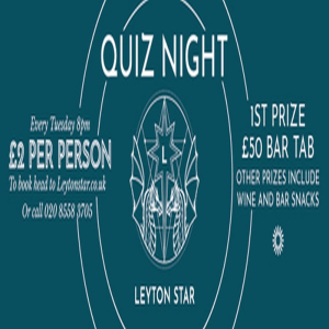 Pub Quiz at Leyton Star near Stratford