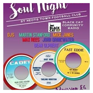 Northern & Motown Soul Night (In Association with Black Cat Community Radio) - St. Neots