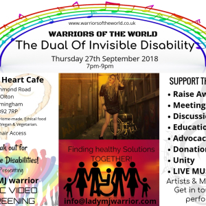 Invisible Disabilities Event: Warriors Of The World